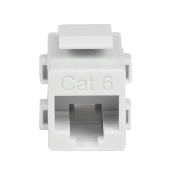 Acoplador Keystone de Cable de Red Ethernet Cat6 RJ45 Hembra a Hembra