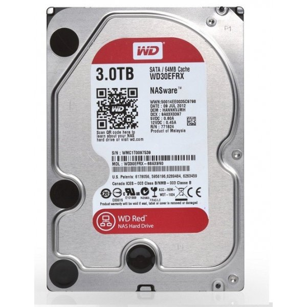 Disco Duro Wester Digital 3TB Red