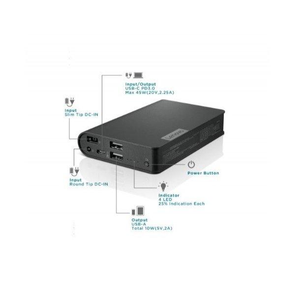 Bateria Lenovo 14,000mAh USB Tipo-C Laptop Power Bank