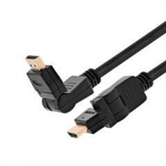 Cable HDMI Xtech macho a HDMI macho giratorio y pivotante 3mts