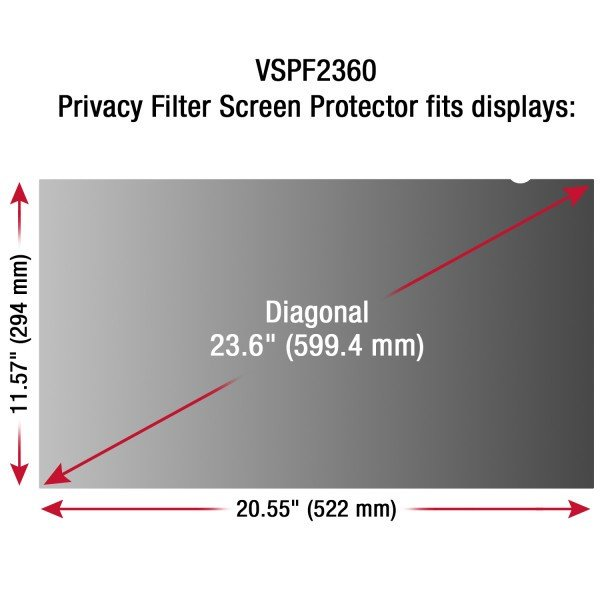 """Filtro Viewsonic Protector de Privacidad 23,6"""""""