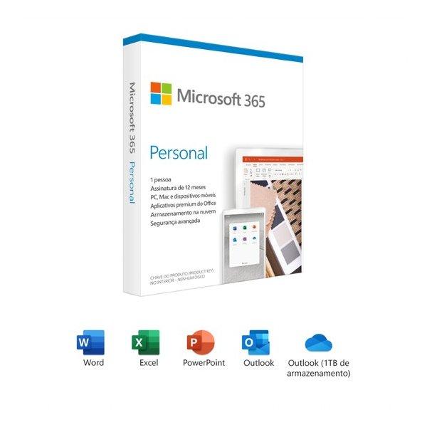 Software Microsoft 365 Personal 32/64-bit 1 PC 1 Año Plurilingüe, Windows/Mac Copia Digital