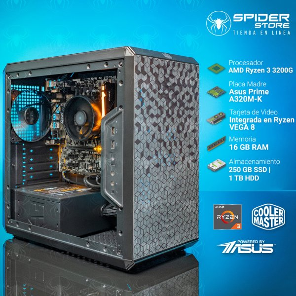 Spider Build Plus AMD Ryzen 3 3200G | Integrada Vega 8 |...