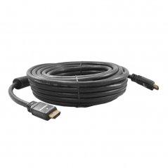 Cable HDMI 15M. M/M, V1,4,  Conector Metalico Negro, Baño Oro, 28AWG